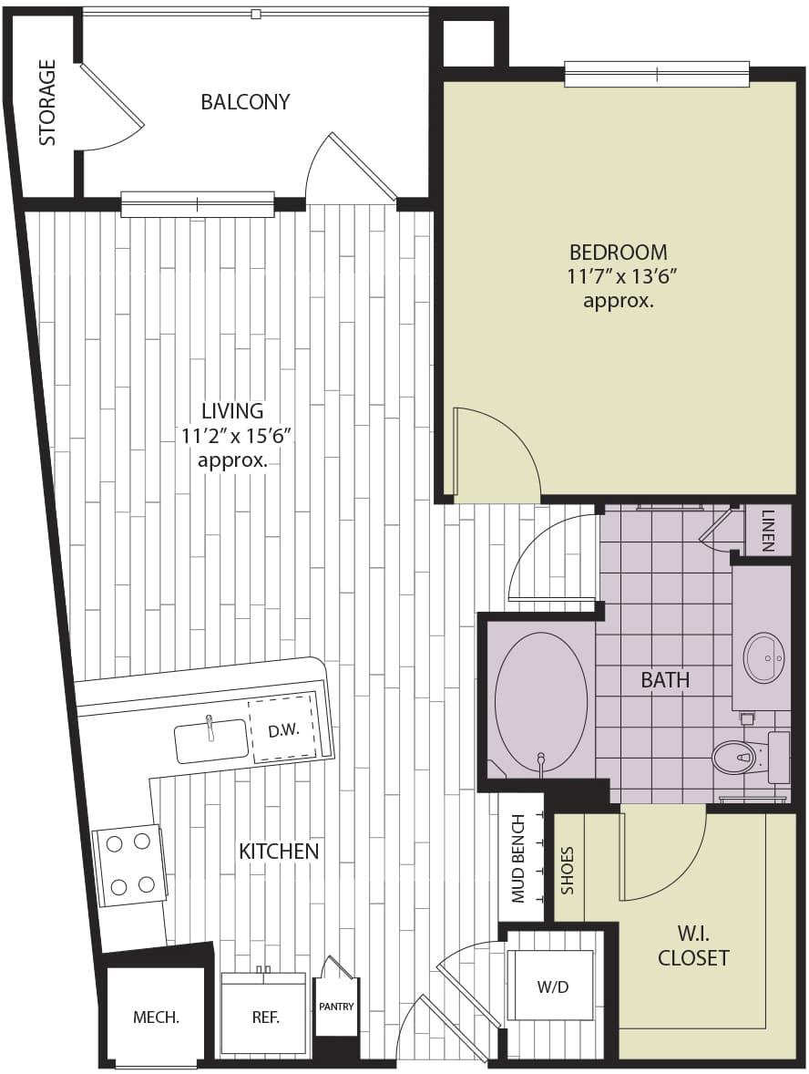 Floor plan A1a