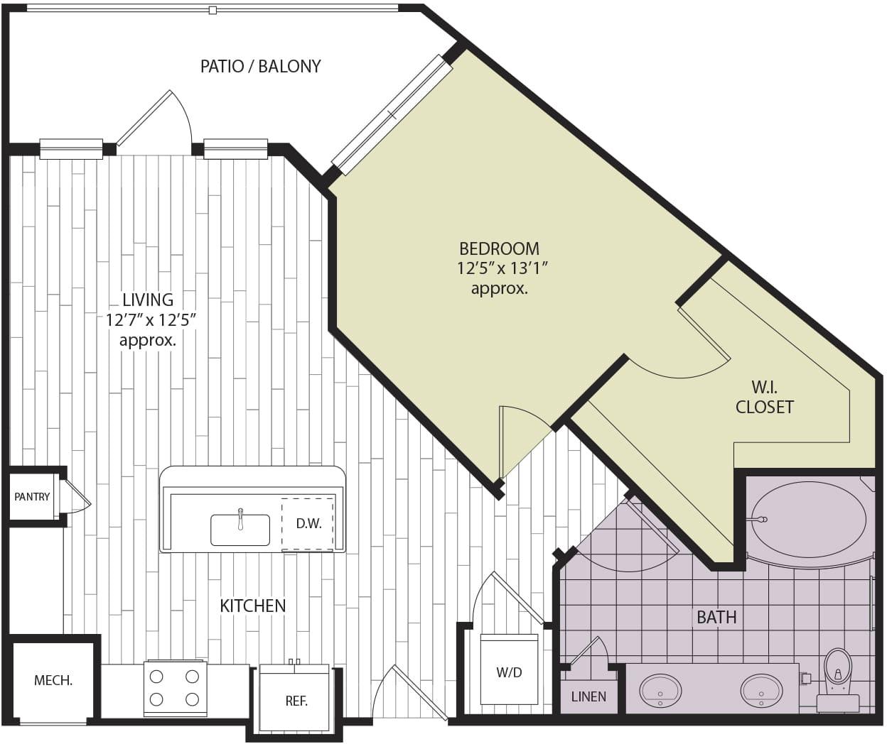 Floor plan A2b